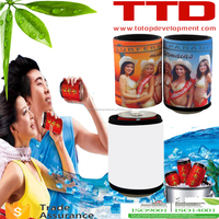 sublimation beverage ,blank foldable cooler/can shape cooler/ sublimation neoprene can coozie