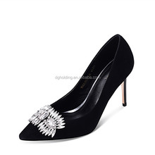 Spring Summer Pearl Rhinestone High Heels Women Wedding Shoes White Diamond Bride Crystal Party Pumps