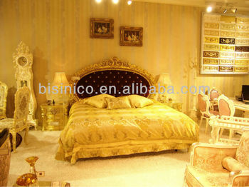 Luxury european classical bedroom set,wood carving bed,bedroom furniture(B51023)
