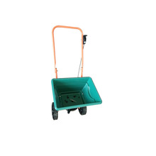 garden scattering cart, lawn seed /Salt spreader, manual fertilizer seeding