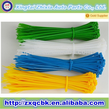 Hot sell !! ZX high tensile strength plastic cable tie/ round cable tie /plastic cable tag