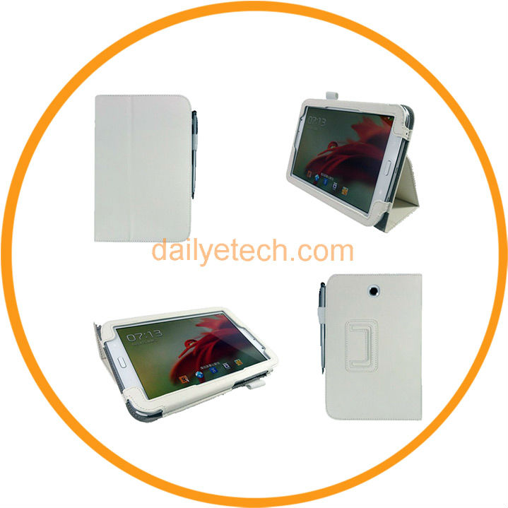 Note8.0 N5100 Smart Flip Leather Cover Case White from Dailyetech
