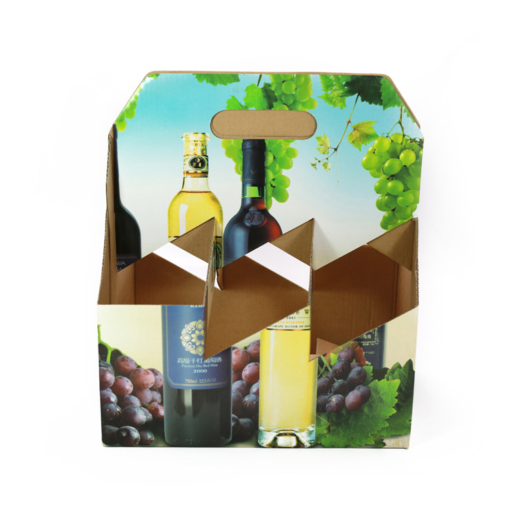 PWXSL009 cheap recycled custom printing wine carrier box for six bottle