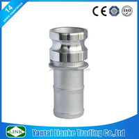 stainless steel quick camlock coupling type e adaptor hose shank