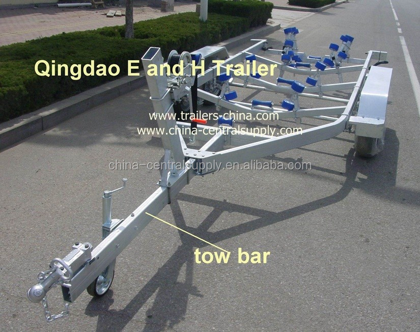 Factory Supply Heavy duty 6.5m tandem-axle flat /bed boat trailer of manufacturer BCT0107