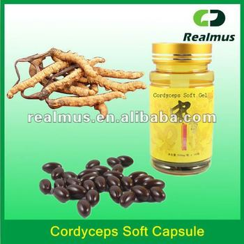 private label cordyceps sinensis and ginseng soft capsule
