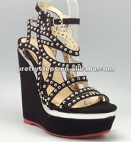 Pretty Steps china wholesale 12cm black platform sexy shoes for women from guangzhou