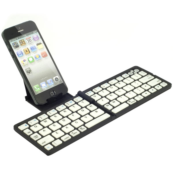 folding wireless bluetooth keyboard for iPhone 4s, 5 , 5s,iPad, iPad mini, mini2