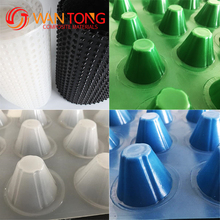 Garage roof waterproofing composite Plastic Drain Cell Sheet factory wholesale high quality Dimple Drainage Board
