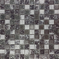 stone mix metal mosaic wall decor , art mosaic tile for modern house decoration (PMDB116)
