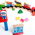 Wooden toy train tracks made in china