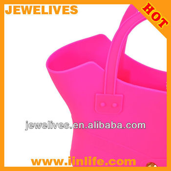 Fashion hand bag for woman silicone storage bag for beach