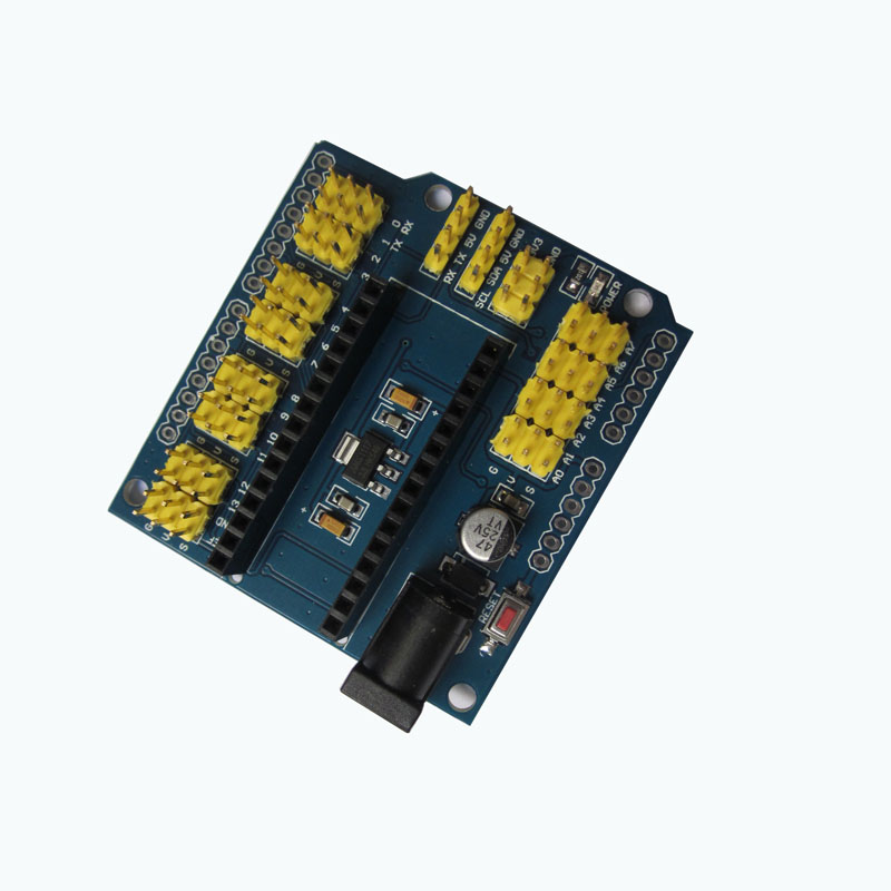 NANO I/O Expansion Shield Board Module for UNO R3 Nano V3.0 Yellow