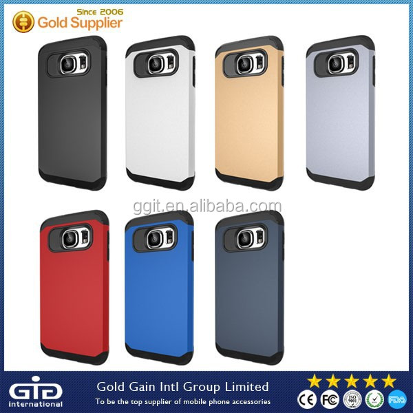 Matte Armor PC Case For Samsung For Galaxy S6 Hybrid Cover