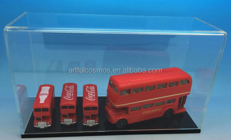 Transparent Diecast Box Action Figure Acrylic Display Case Box
