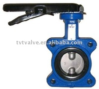 concentric soft seal wafer type butterfly valve