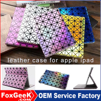 Cute leather tablet case for ipad mini, for ipad mini covers in ,blue,laser,yellow,silver coloful design case for ipad air2
