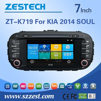 touch screen car radio for Kia 2014 SOUL 2 din car dvd with reversing camera HD 800*480 A8 chipset