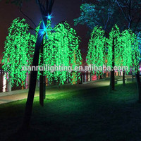 led tree projection light outdoor lighted led weeping willow tree lighting