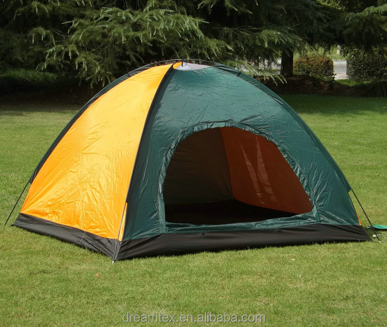 Outdoor tent camping tent waterproof camping tent beach 3-4 person camping