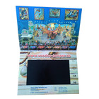7inch tft lcd video greeting card brochure, lcd video card, video brochure with 2GB memory