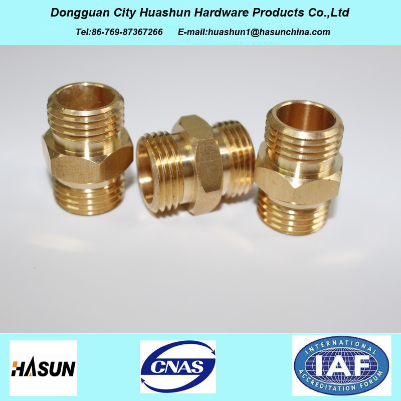 Brass Equal Tube Hex Nipple, Plumbing Material