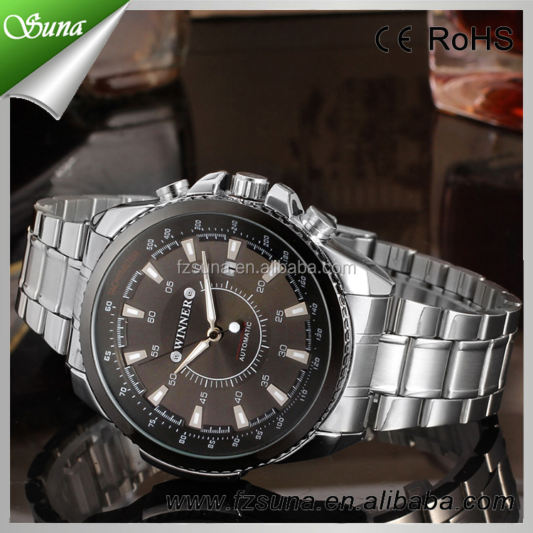 T-winner watch luxury china automatic mechanical men fashion jam tangan for gents