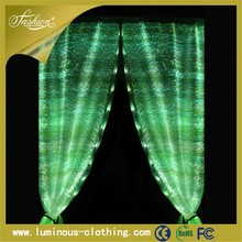 fiber optic fabric pinch pleat curtains one way window shade