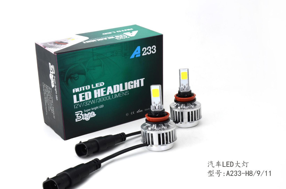New arrival auto accessaries H11 5000K car led headlight