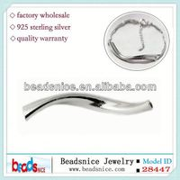Beadsnice ID 28447 925 Spacer bead finding jewelry crimp beads tube connector sterling silver tubes
