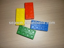 Gift PU Cheap Stress Toy Building Block