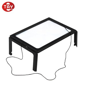 Floor stand led magnifying lamp integrated led lights binocular hands free magnifier