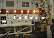 Medium frequency induction through heating furnace