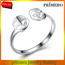 Hot Sale 100% 925 Sterling Silver Fine Jewelry Skull Rings For Women Party