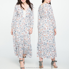 Chinese clothing manufacturers Latest design boho maxi 3xl plus size dress