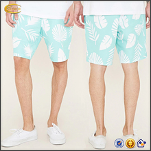 Direct Manufacturer OEM New allover palm leaf print swimwear 2017 custom print men's swim trunks