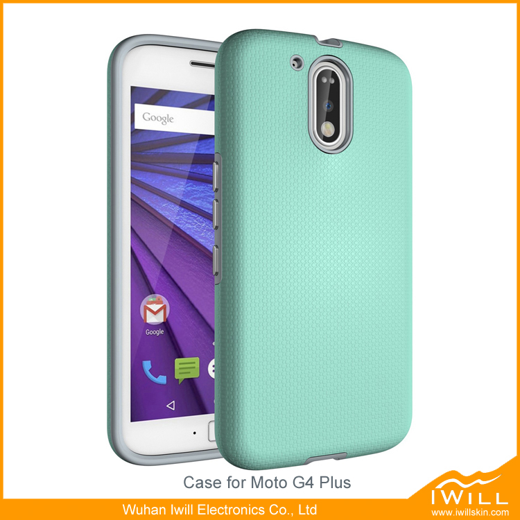 2 in 1 dual layer heavy duty rugged case skin for moto g4 plus cover