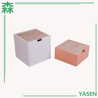 Yasen Houseware Wooden Modern Mini Free Standing Cabinet Drawer