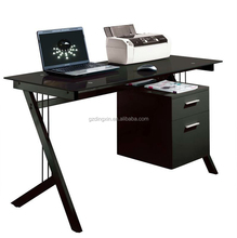 black tempered glass computer desk