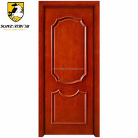 Alibaba China arch design of main gate solid wooden door