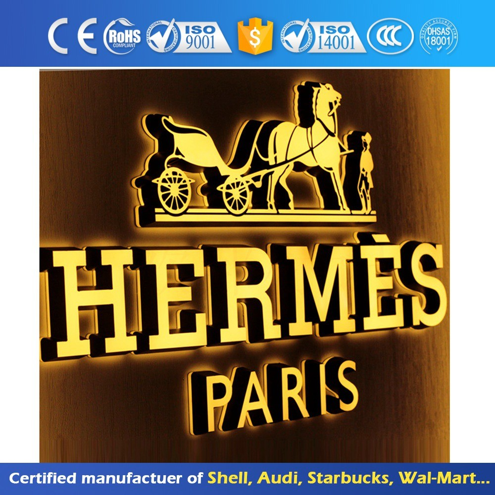 Front lit Backlit Customized Company Metal Frame Alphabet Outdoor Advertising Acrylic Illuminated Logo Led Letter Sign