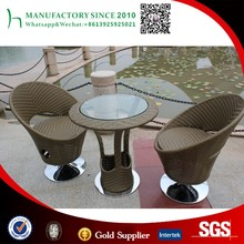 Outdoor rattan bar table set used casino chairs with high quality