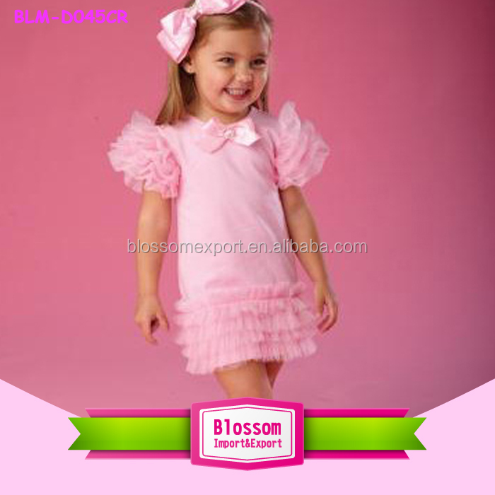 2016 China Supplier summer new dress in stock sleeveless rainbow fashion dress baby girls kids ruffled princess girs puffy dress