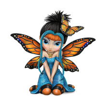Cartoon Butterfly Kisses fairy Figurine