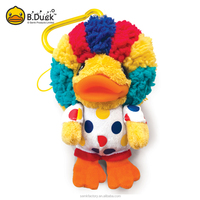 Novelty promotional plush OEM key chain keyring gift