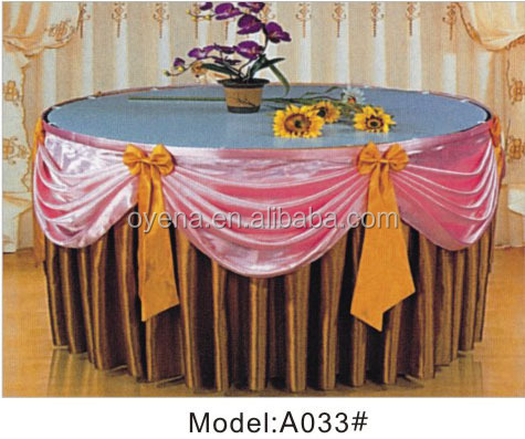 banquet table cloth/wedding banquet decoration/Poly satin fabric