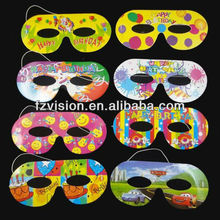Cheap Paper Cartoon Mask For Party Theme Birthday Party Mask for Kids