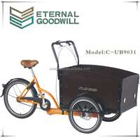 "Three wheel Cargo Bike For Children/Cargo tricycle/Family Bike/ Cargokid /20""/24""/ UB9031"