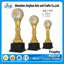 2015 Best trophy factory metal material plastic global ball trophy cup