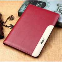 Stocks 360 Degree Protect Leather Case For iPad2 3 4 Handheld PU Smart Case For iPad4